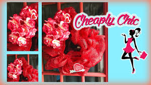 dollar tree diy valentine mesh wreath tutorial walk through youtube