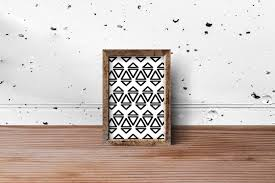 abstract triangle pattern used as design on photo frame for home
