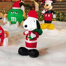 Snoopy Outdoor Christmas Decorations Snoopy Inflatable Christmas Decoration Outdoor Holiday Fun From Kmart