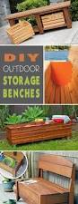 Wood Deck Storage Bench Plans by Diy Outdoor Storage Benches Outdoor Storage Storage Benches And