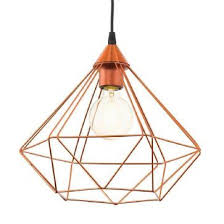 vintage copper ceiling light 94194 tarbes vintage wide cage pendant copper