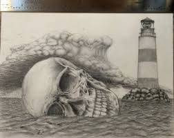 mother of exiles statue of liberty crying pencil drawing on