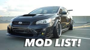 modded subaru wrx modified 2015 subaru wrx modification list youtube