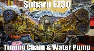 subaru ez30 timing chain and water pump replacement youtube