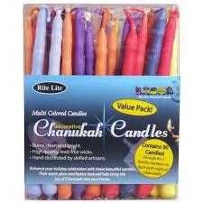 hanukkah candles colors value pack multi colored hanukkah candles