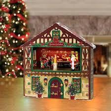 lighted santa s workshop advent calendar wooden santa s workshop light up house christmas advent calendar