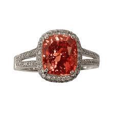 padparadscha sapphire engagement ring 4 15ct padparadscha sapphire ring zabler design jewelers