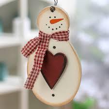 primitive wood snowman ornament ornaments