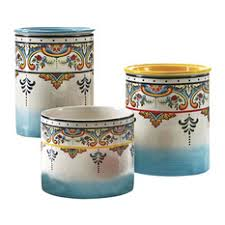 mediterranean kitchen canisters and jars houzz