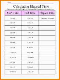 13 elapsed time worksheet nypd resume