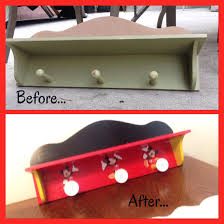 diy mickey mouse themed shelf before and after for my nephews