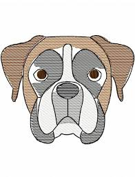 boxer face sketch embroidery design boxer sketch embroidery