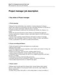 Job Desk Project Manager 20 Medical Office Manager Job Description Template 10 Resume