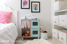 play kitchen from furniture remodelaholic easy play kitchen from a cube shelf