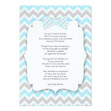baby shower notes baby shower thank you notes with poem blue gray card zazzle