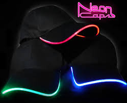 neon glow led light up baseball hat