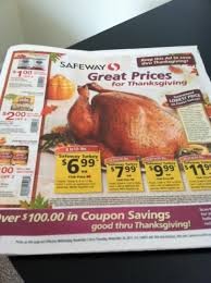 thanksgiving coupons and deals at safeway 2011