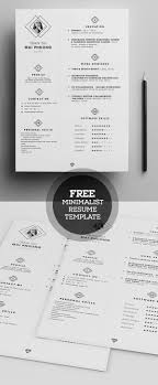 free minimal resume psd template free free minimalistic cv resume templates with cover letter template