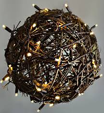 Grapevine Chandelier Lighted Balls