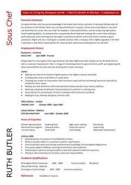 Cook Resume Template Sous Chef Resume Example Resume Examples And Life Hacks