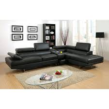 Leather Sectional Sofa With Ottoman by Furniture Of America Riverton 2 Piece Sectional Sofa With Optional