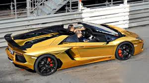 cars lamborghini gold golden lamborghini aventador in monaco youtube