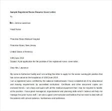 sample cover letter for registered nurse resume sample registered