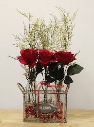 red roses baby u0027s breath red rose arrangement silk flowers