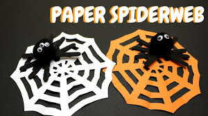 how to make a paper spiderweb halloween craft for kids youtube