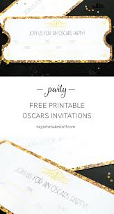 throwing an oscars party this year these printable invitations