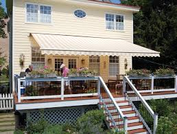 Patio Door Awnings Exterior Design Gorgeous Retractable Awning For Your Deck And
