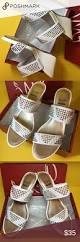 sold impo vavoom wedge slip on sandal 9m white nwt wedges