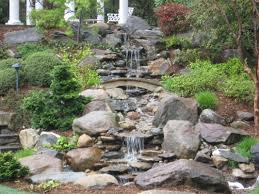 Garden Waterfall Ideas Backyard Waterfall Ideas Rdcny