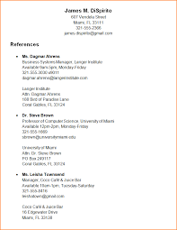 reference format on resume reference letter for teacher