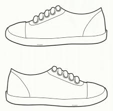 shoe print pattern use the printable outline for crafts creating