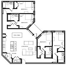 professional apartment floorplans the mark