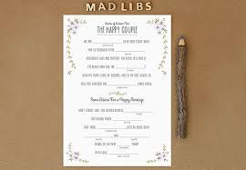 wedding mad libs template how to mad libs at your wedding