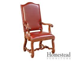 Leather Dining Room Chairs With Arms Homestead Furniture