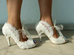 pearl wedding shoes embroidered lace bridal shoes with pearls in ivory 4 heels peep