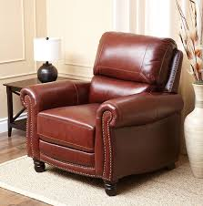 Living Room Recliners Amazon Com Abbyson Living Hand Rubbed Pushback Leather Baron
