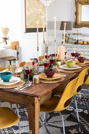 thanksgiving table via just destiny mag featuring cost plus world