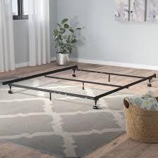 Roller Bed Frame Symple Stuff Heavy Duty 7 Leg Adjustable Metal Bed Frame With