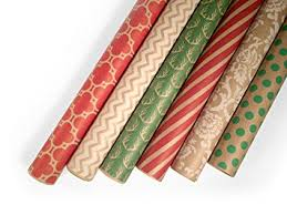 wrapping papers kraft wrapping paper set 6 rolls patterns