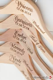 4 personalized bridesmaid hangers engraved wood hangers