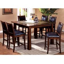 Simple Style Interior Design With  Pieces Counter Height Dining - Oak counter height dining room tables