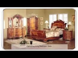 California King Sleigh Bed Cortina California King Sleigh Bed Aico 65016 Review Youtube