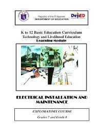 k 12 module in tle 8 electrical 3rd grading