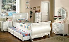 White Childrens Bedroom Furniture Cm7226 Alexandra Kids Bedroom In Pearl White W Options