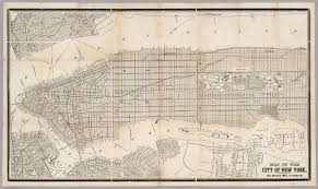 New York City New York Map by Map Of The City Of New York David Rumsey Historical Map Collection
