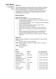 remarkable mri technologist resume sample on radiologic